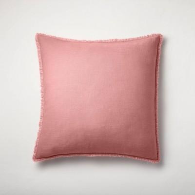 Euro Heavyweight Linen Blend Throw Pillow Rose - Casaluna™