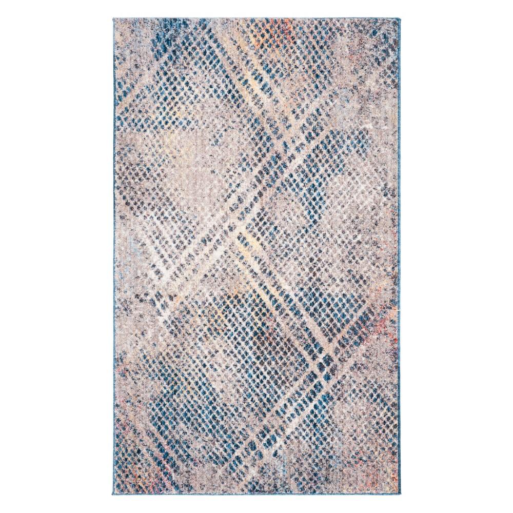 3X5 Geometric Accent Rug Blue - Safavieh Top