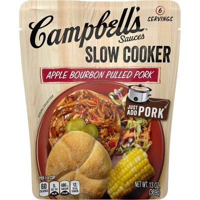 Campbell's Slow Cooker Sauces Apple Bourbon Pulled Pork 13oz