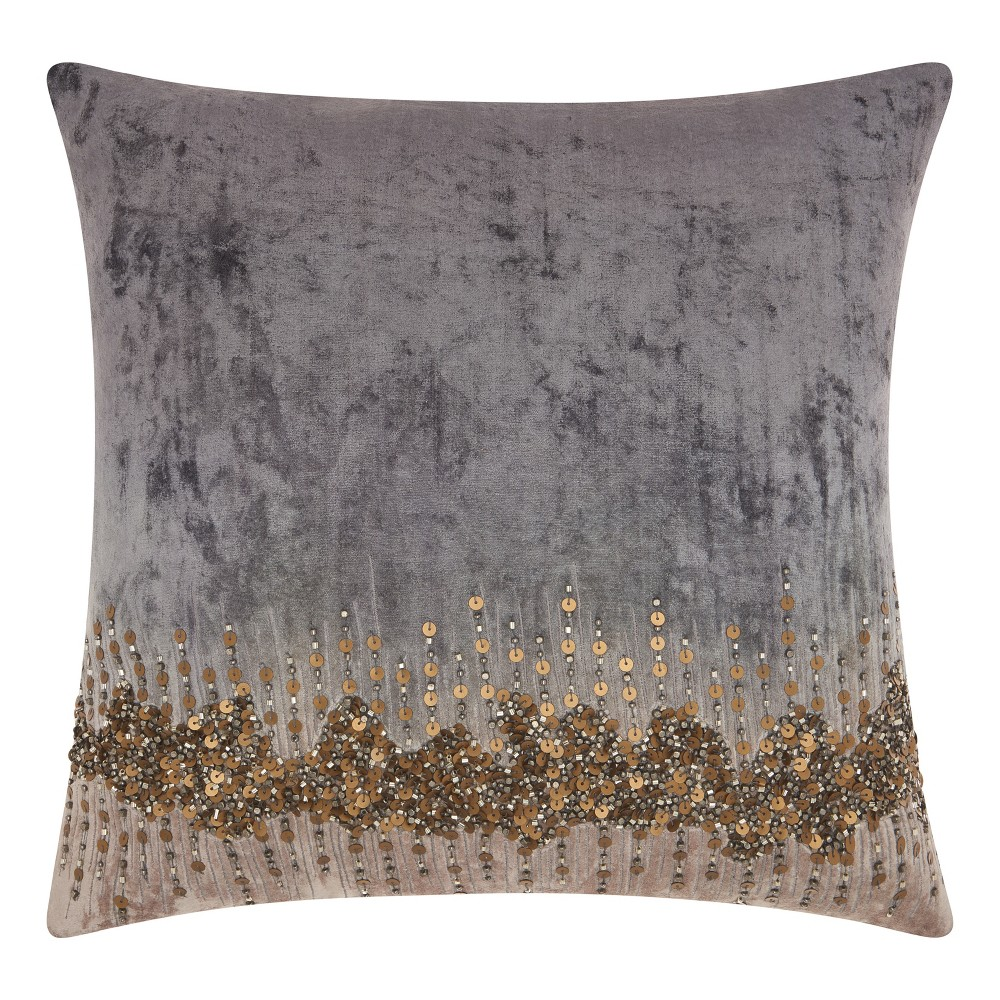 Image of Charcoal Heather Mosaic Throw Pillow - Mina Victory