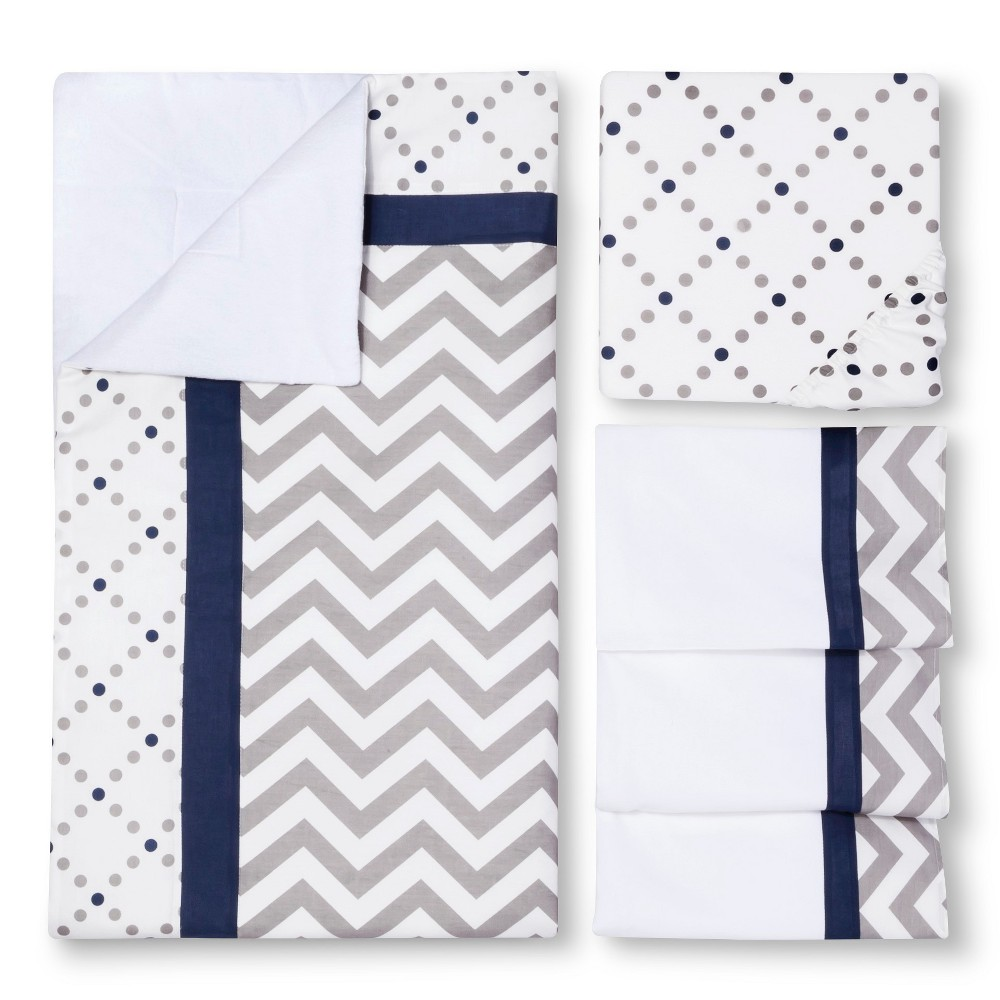 Image of My Baby Sam Out of the Blue 3-Piece Crib Bedding Set