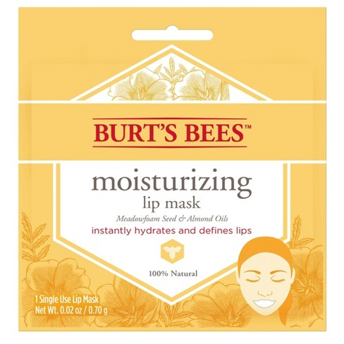 Burt's Bees Lip Mask - Meadowfoam Seed and Almond Oils - 0.02oz - image 1 of 3