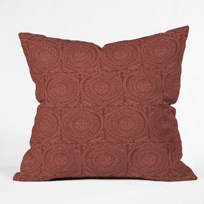 Holli Zollinger Geometric Square Throw Pillow Red - Deny Designs