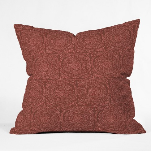 Holli Zollinger Geometric Square Throw Pillow Red Deny Designs