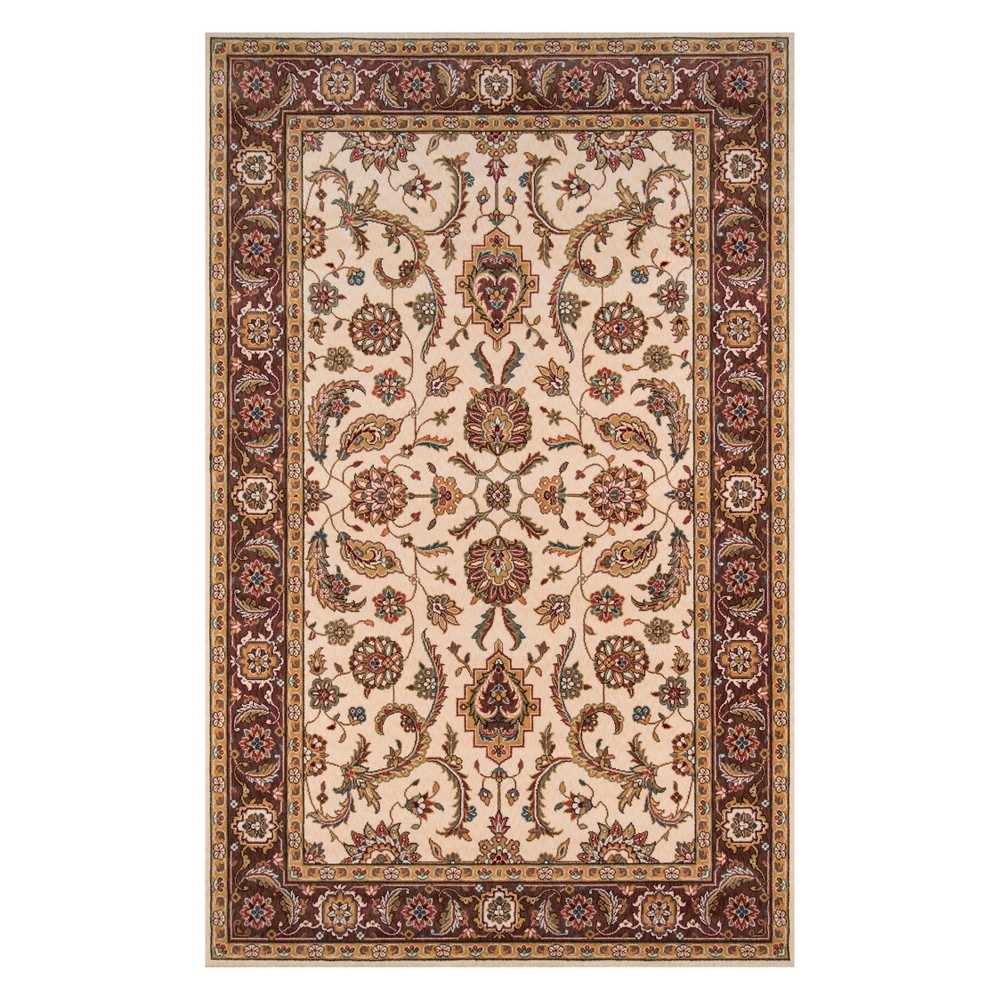 5'X8' Floral Loomed Area Rug Cocoa (Brown) - Momeni