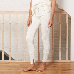 Women's Drawstring High-Waist Lounge Leggings - A New Day™ Heather Cream