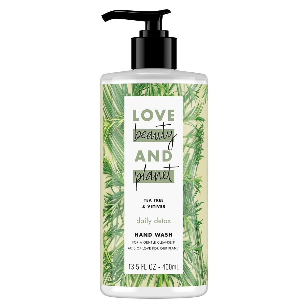 Image of Love Beauty & Planet Tea Tree Oil & Vetiver Daily Detox Hand Wash Soap - 13.5oz