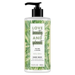 Love Beauty & Planet Tea Tree Oil & Vetiver Hand Soap - 13.5oz