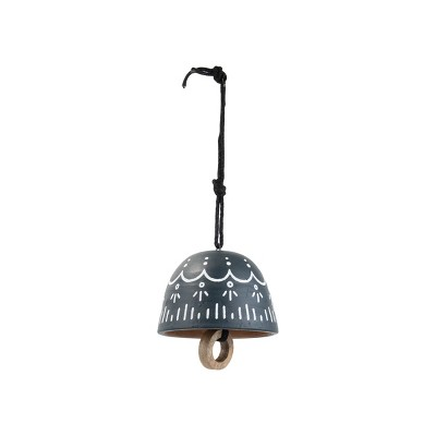 Painted Terracotta Decorative Bell - Foreside Home and Garden