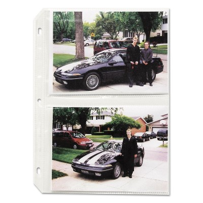 C-Line Clear Photo Pages for Four 5 x 7 Photos 3-Hole Punched 11-1/4 x 8-1/8 52572