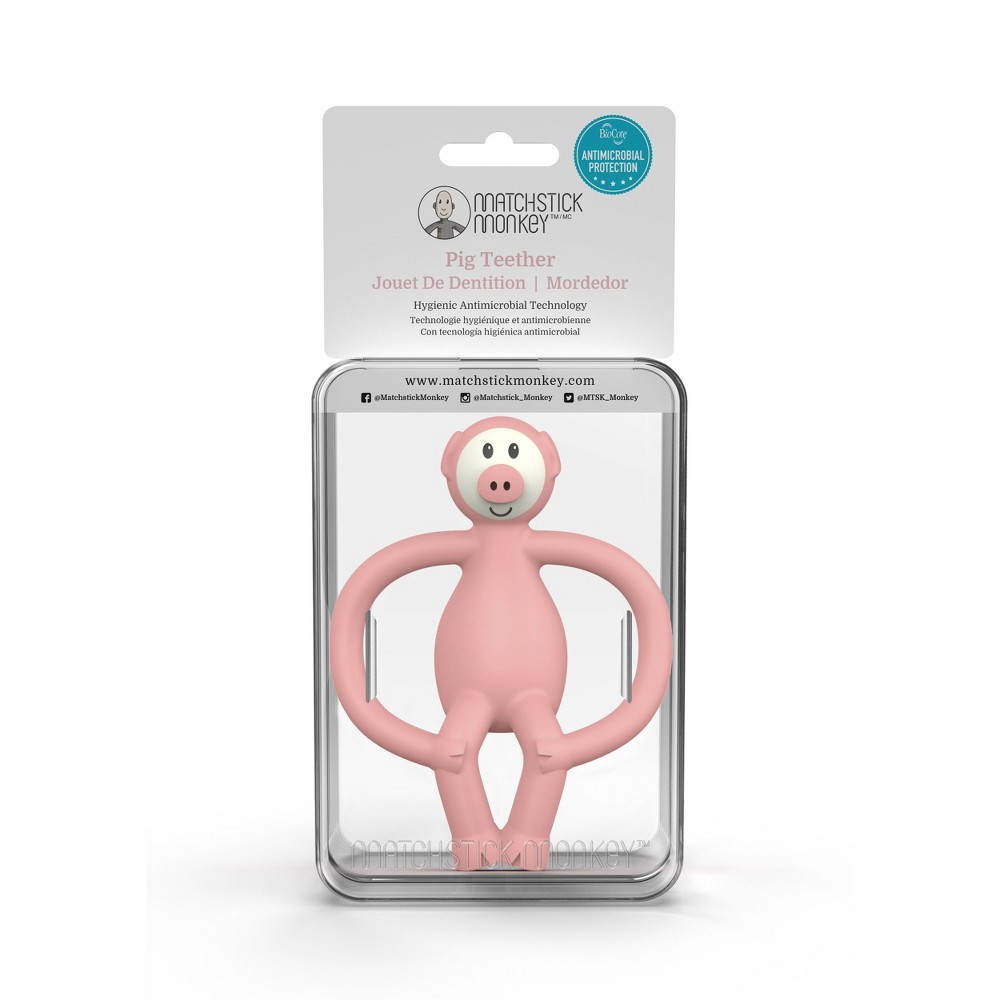 Image of Matchstick Monkey Teething Toy - Pig
