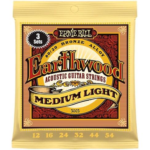 Ernie Ball 3003 Earthwood 80/20 Bronze Medium Light Acoustic Strings 3-Pack - image 1 of 1
