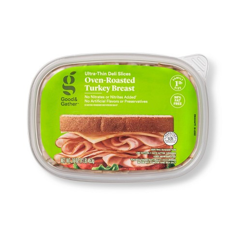 Oven Roasted Turkey Breast Ultra-Thin Deli Slices - 16oz - Good & Gather™ - image 1 of 3