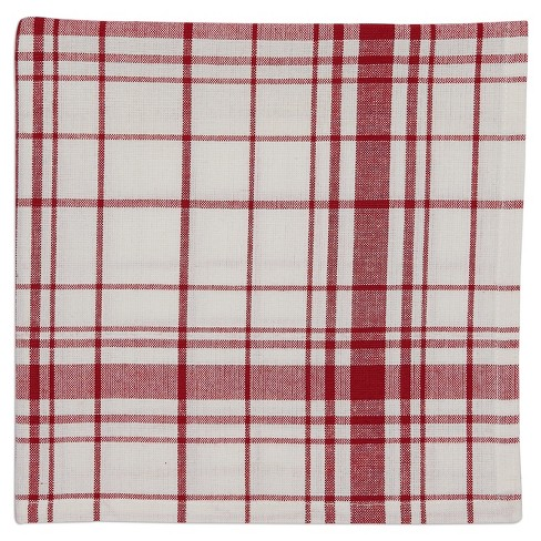 "6pk Red Down Home Plaid Napkin 20""x20"" - Design Imports - image 1 of 2"