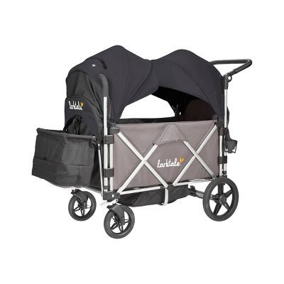 Larktale Caravan Stroller Wagon Chassis with Canopies - Byron Black