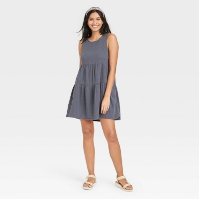 Women's Gauze Tiered Tank Dress - Universal Thread™