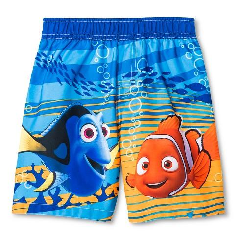 Toddler Boys' Finding Nemo Swim Trunk - Blue 3T - image 1 of 2