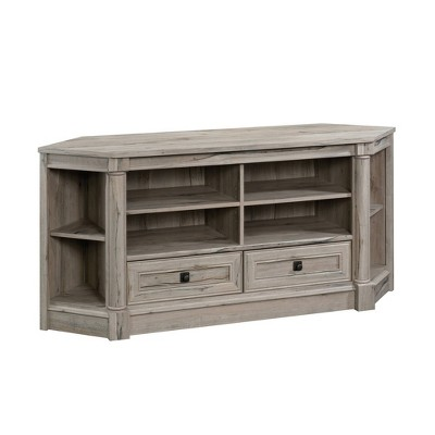 Palladia Corner Entertain Credenza Split Oak - Sauder