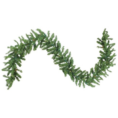 "Northlight 9' x 12"" Prelit Canadian Green Pine Artificial Christmas Garland - Multi Lights - image 1 of 4"