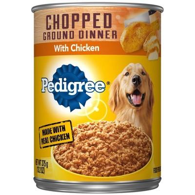 Pedigree Chopped Ground Dinner Wet Dog Food with Chicken - 13.2oz
