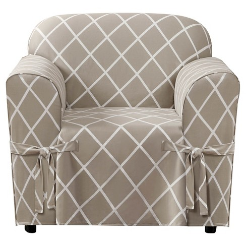 Lattice Chair Slipcover - Sure Fit - image 1 of 2