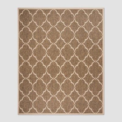 "7'10""X10' Cordia Outdoor Rug Beige/Cream - Safavieh"