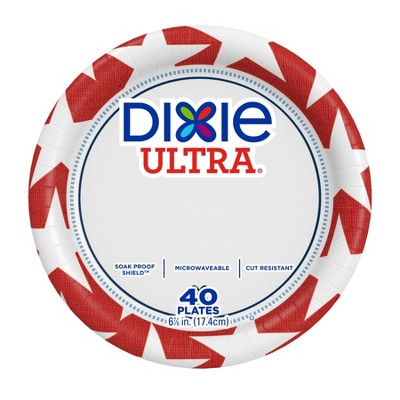 """Dixie Ultra Disposable Plates - 7"""" - 40ct"""