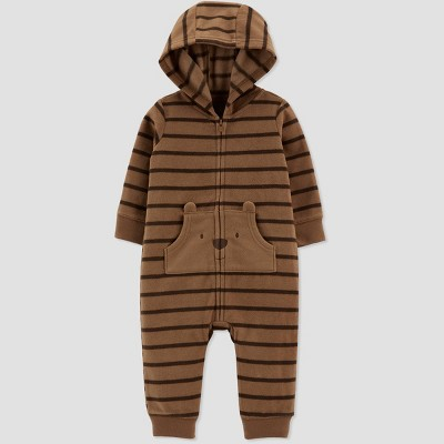 Baby Boys' Bear Jumpsuit - Just One You® made by carter's Brown Newborn