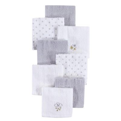 Hudson Baby Infant Unisex Super Soft Cotton Washcloths, Stars, One Size