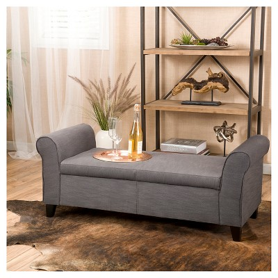 Hayes Armed Storage Ottoman Bench - Christopher Knight Home : Target