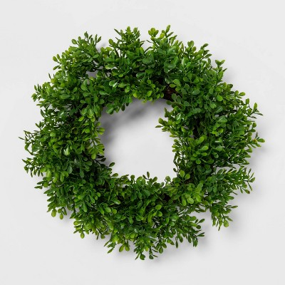 "12"" Artificial Boxwood Wreath - Threshold™"