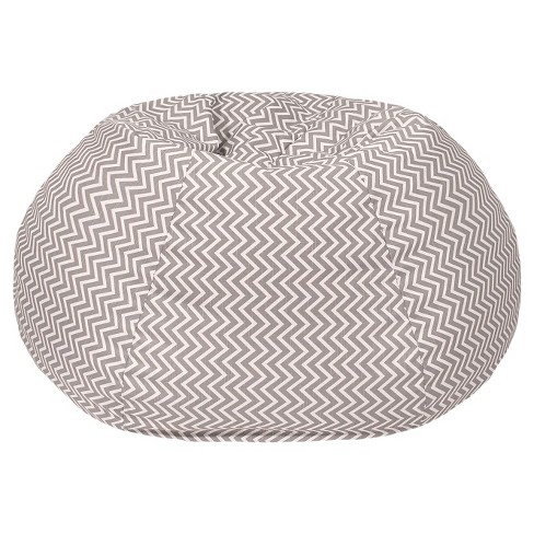 Cosmo ZigZag Print Bean Bag Gray (XL) - Gold Medal - image 1 of 1