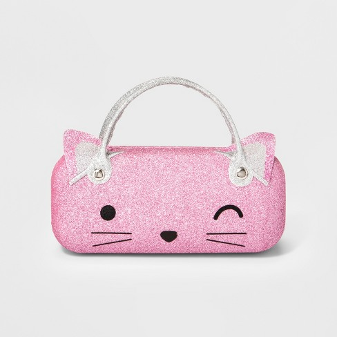Girls' Cat Sunglass Case - Cat & Jack™ Pink - image 1 of 1