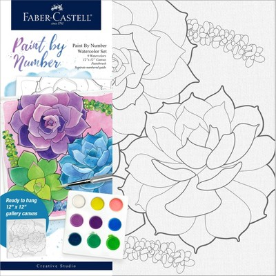 Faber-Castell Paint by Number Watercolor Set - Succulents