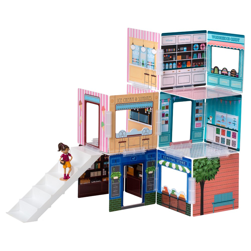 Wonderhood Corner Shops Creative Building Set