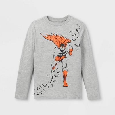 Boys' Batman Long Sleeve Graphic T-Shirt - Heather Gray