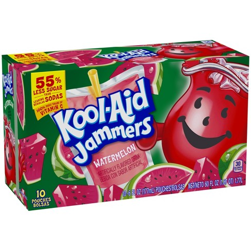 Kool-Aid Jammers Watermelon Juice Drinks - 10pk/6 fl oz Pouches - image 1 of 5