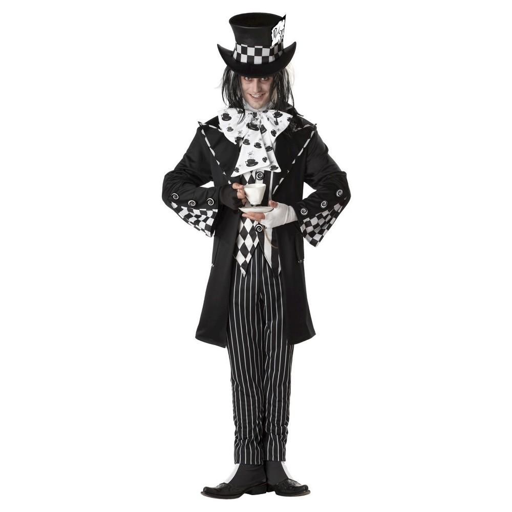 Image of Halloween Adult Dark Mad Hatter Costume M, Men's, Size: Medium