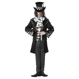 Halloween Adult Dark Mad Hatter Costume M, Men