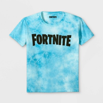 Boys' Fortnite Party Short Sleeve Graphic T-Shirt - Blue