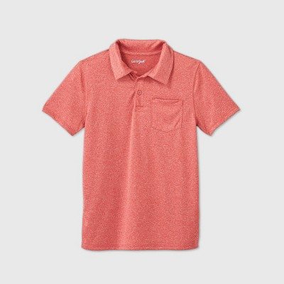 Boys' Short Sleeve Performance Polo Shirt - Cat & Jack™ Red