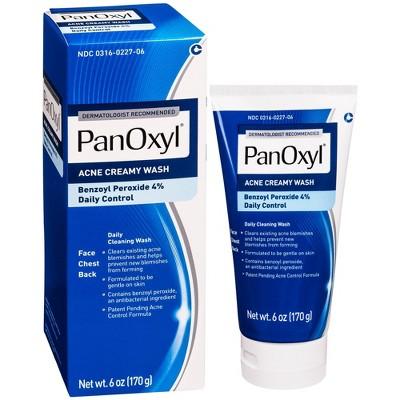 PanOxyl 4% Creamy Facial Treatment Wash - 6oz