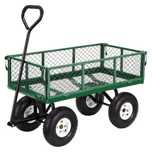 gorilla carts steel utility garden cart with removable sides 400 pound capacity - Garden Utility Cart