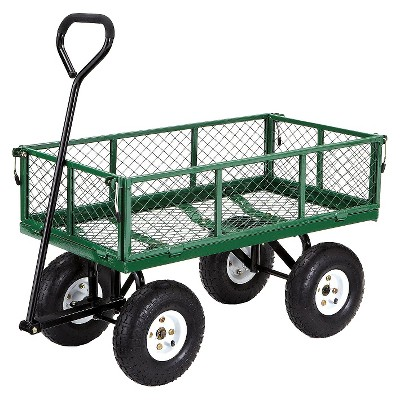 Gorilla Carts Steel Utility Garden Cart With Removable Sides, 400 Pound  Capacity