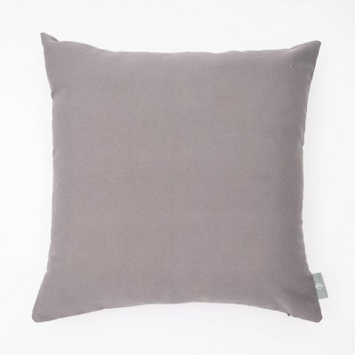 """18""""x18"""" Tristin Solid Indoor/Outdoor Square Throw Pillow Gray - freshmint"""