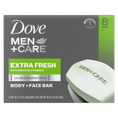 Dove Men Care Extra Fresh Body And Face Bar Soap 3 75oz 8ct Target