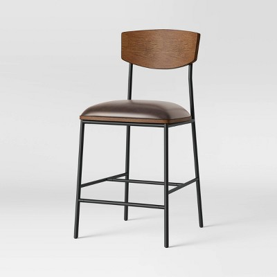 Telstar Mid-Century Modern Mixed Material Counter Height Barstool - Project 62™