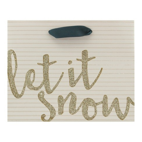 White 'Let It Snow' Gift Bag - Spritz™ - image 1 of 2