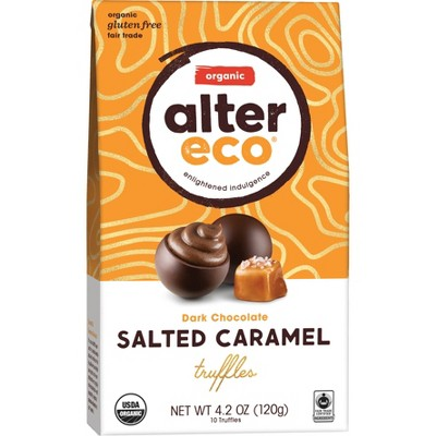 Alter Eco Bagged Truffles - Salted Caramel Truffles - 4.2oz/10ct