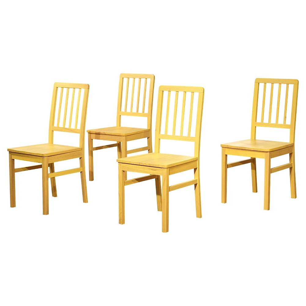 Camden Wood Slatback Dining Chair - Yellow (Set of 4)